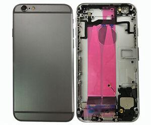 Akkudeckel für iPhone 6S Rückseite Mittelrahmen Gehäuse Cover Schwarz Vormontier