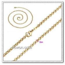 18k rose gold ep belcher necklace 3mm ships from australia