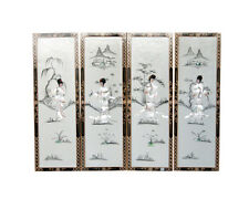 White Lacquer Wooden Wall Plaques Model P3112-WT