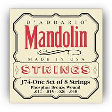 D'Addario EJ74 Mandolin Phosphor Bronze J74 Strings 11-40 Medium