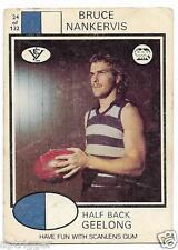 1975 Scanlens (24) Bruce NANKERVIS Geelong < Average > White Back