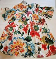 Zara Girls Dress sz 9  Floral Pattern Soft Collection cm 134