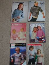 JOB-LOT KNITTING PATTERNS CHILDS TO MENS~CARDIGAN~BABIES~LACY~JACKET~FAIR-ILSE