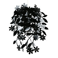 Modern Black Flower & Leaf Ceiling Light Shade Chandelier Lampshade
