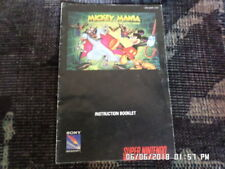 Mickey Mania (SNES Super Nintendo) Instruction Manual Only.. NO GAME