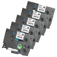 5 New Label Tape for Brother PT 1010 1090 1120 1130 11Q 1280 SR 1290 BT 9800PCN