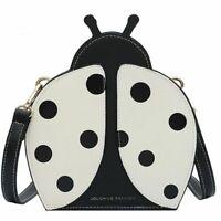 Ladybug Design Faux Leather Shoulder Cross Body Bag For Women Zipper Closure New