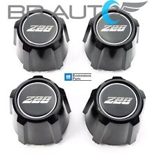 1982-1992 CHEVROLET CAMARO Z28 15 INCH ALUMINUM WHEEL CENTER CAPS SET NEW BLACK