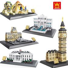 Modell bausätze WANGE Architektur Weltberühmtes Gebäude Bausteine Spielzeueg DIY