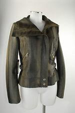 Apriori Jacke Blouson 38 braun in Reptil-Optik Leder Optik jacket neu m Etikett