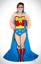 DC COMICS Super Hero Wonder Woman Comfy THROW Fleece Blanket w/Sleeves Snuggie