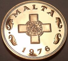 Rare Proof Malta 1976 1 Cent~1st Year~The George Cross~26,000 Minted~Free Ship