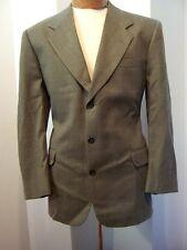 AQUASCUTUM OF LONDON Regent 100 Gray Chevron Tailored Mens Sport Coat Jacket 44