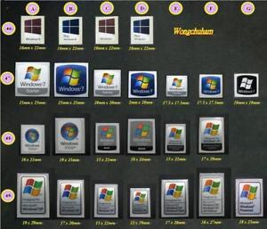 Laptop PC sticker - windows xp vista w7 w8 w10 sticker