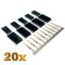 20 Stück Male Servo Stecker Vergoldet JR Graupner Futaba kompatibel Crimp Pins