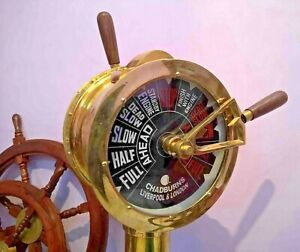 Ship's Engine Order Brass Telegraph Nautical 43 Inch