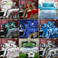 3D Scenes Printed Duvet Quilt Cover Pillowcase Bedding Set For Twin/Queen Bed 3