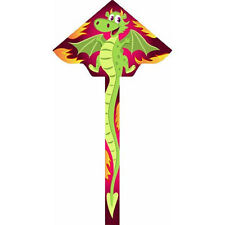 "Ecoline Kids 47"" Simple Flyer - Cinder Dragon Kite"