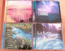 LOT 4 CD Musique et sonorités naturelles - Orage Ruisseau Fleuve Campagne