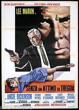 SENZA UN ATTIMO DI TREGUA MANIFESTO CINEMA LEE MARVIN 1967 POINT BLANK POSTER 2F