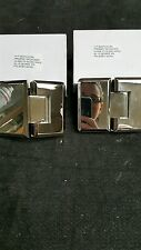 Shower Door Hinge POLISHED NICKEL MIRROR FINISH WITH 10 DEGREE PIN