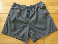 Lands End Mens Size XL 40-42 Swim Active Trail Hiking Nylon Shorts Gray Fast Dry