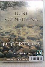 Deceptions by June Considine: Unabridged Cassette Audiobook (L4)