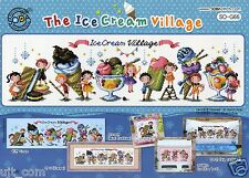 """The Ice Cream Village"" Cross stitch pattern leaflet. Big Chart. SODA SO-G66"