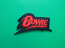 HEAVY METAL PUNK ROCK MUSIC SEW ON / IRON ON PATCH:- DAVID BOWIE (a) RED STRIPE