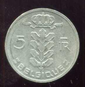 BELGIQUE 5 francs  1967  ( belgique )