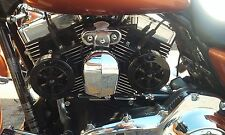 Love Jugs Cool-Master Gloss Black Engine Cooling Fan for Harleys - Free T-Shirt