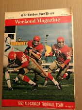 MAGAZINE ARTICLE: WEEKEND MAGAZINE, 1963 CFL ALL CANADIAN FOOTBALL TEAM, 1963