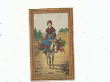 C7457  VICTORIAN TRADE CARD  DOMESTIC SEWING MACHINE   LADY ON DONKEY