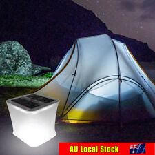 Solar Power Folding Inflatable Lantern Lamp Camping Hiking Outdoor Tent Light AU