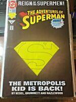 SUPERMAN #501 DC comic Reign Of The Supermen #15 1993 The metropolis Kid Is Back