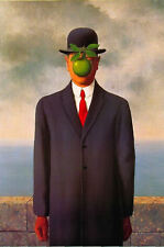 Framed Print - The Son of Man by René Magritte (Picture Surrealism Dali Art)