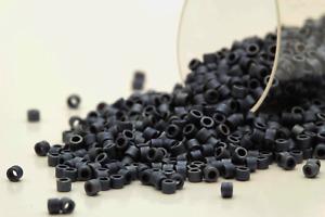 Miyuki Delicas 11/0 Metallic Matte Black Luster Seed Beads DB-301