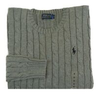 Polo Ralph Lauren Pony Crewneck Cable Knit Cableknit Sweater Jumper Pullover S