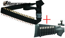 25 Round Shells Rifle belt+9 Round Buttstock Holder Pouch for .410 .223 243