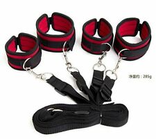 Adult Fantasy Hand&Ankle Cuffs Lingerie Restrain Couple Firt Sex Aid SM Game