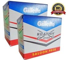 100 Gillette Double Edge Blades Classic Style Safety Razor Refills Two Side