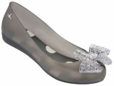 Vivienne Westwood Melissa Shoes Ultragirl Bow (US7, Smoke) New with Box On SALE