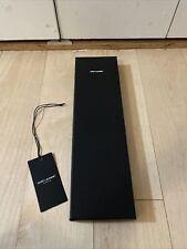 YSL Saint Laurent Empty Tie Storage Black Box 14.75x4.25x1 w/ Tissue Paper