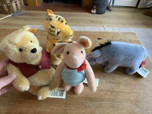 Steiff Winnie The Pooh, Tigger, Eeyore And Piglet Set Brand New Mohair