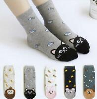 Animal Cartoon Cotton Socks Fashion Women Lovely Cute Cat Socks 5 Colors 1 Pair