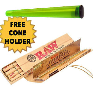 RAW Classic Connoisseur King Size Slim Papers With Pre Rolled Tips Filter Combo