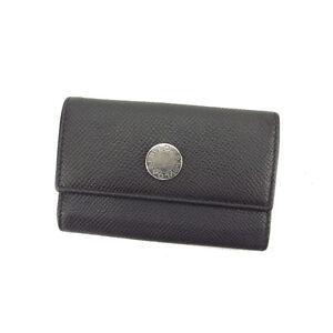 Bvlgari Key holder Key case Black Silver Woman Authentic Used L813