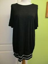 BNWT DOROTHY PERKINS UK SIZE 14 LADIES BLACK STRETCHY SUMMER BEACH DRESS