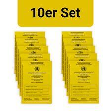 10 Piece: International vaccination certificate Booklet