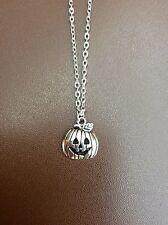 Bolsa De Regalo Gratis Calabaza lindo plateado plata collar cadena Gótico Halloween Joyería